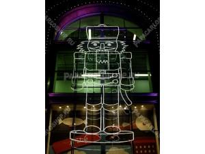 Щелкунчик в Центральном детском магазине на Лубянке – новогоднее световое панно