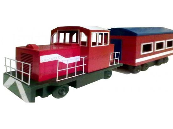Сувенирный поезд (локомотив и вагон)