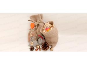 Мешочки из льна и хлопка для упаковки подарков - любой размер на заказ