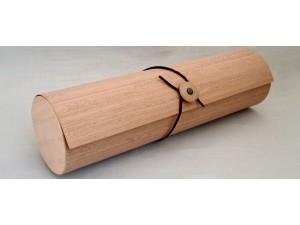Пеналы-тубусы для вина, виски, коньяка (шпон, логотип)
