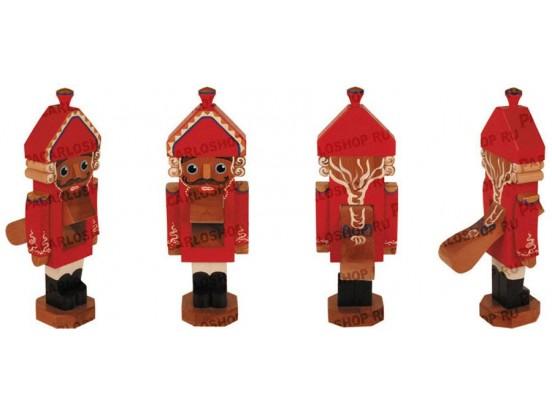 Щелкунчик - орехокол деревянный. Классическая модель. Красный большой 32 см